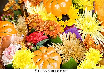 otoño, flores
