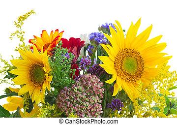 otoño, flores, ramillete, otoño