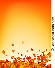 otoño, fondo., hojas, eps, 8