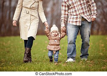 otoño, juntos, relajante, familia , naturaleza