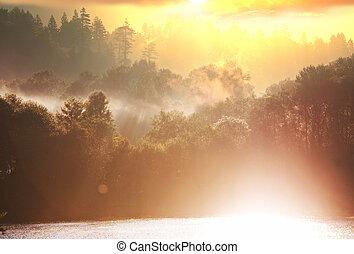 otoño, lago
