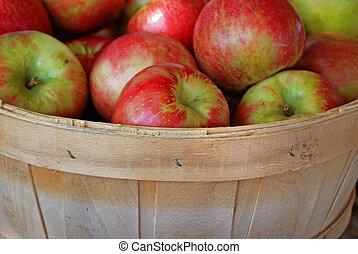 otoño, manzanas