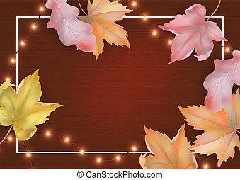 otoño, marco, plano de fondo