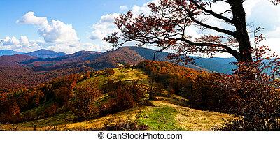 otoño, montañas