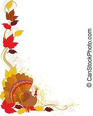 otoño, pavo, frontera