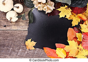 otoño, pizarra