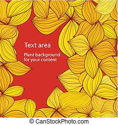 otoño, plano de fondo, con, copyspace
