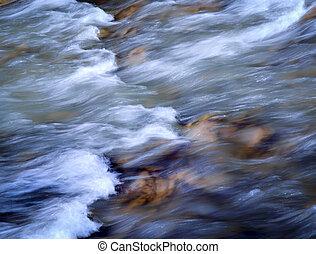 otoño, rápido, río