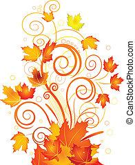 otoño, remolino