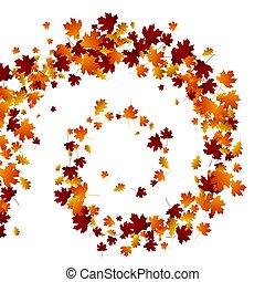 otoño, remolino, leaves.
