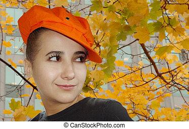 otoño, retrato