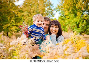 otoño, retrato de la familia