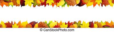 otoño sale, bandera, seamless