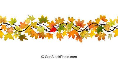otoño, seamless, rama