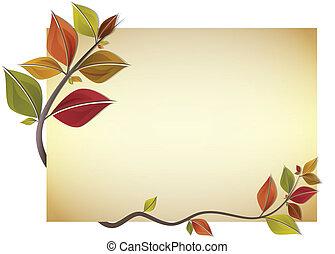 otoño, tarjeta