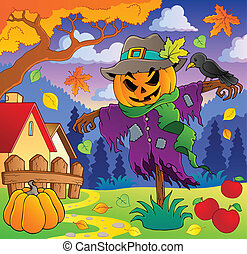 otoño, temático, imagen, 2