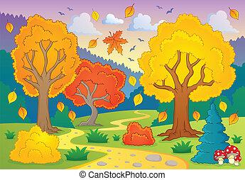 otoño, temático, imagen, 5