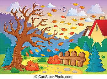 otoño, temático, imagen, 9