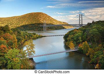 otoño, valle de hudson, río