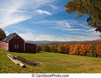 otoño, vermont, vista