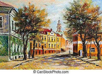 otoño, vitebsk, antiguo