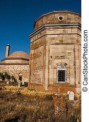 otomana, grób, historyczny, era