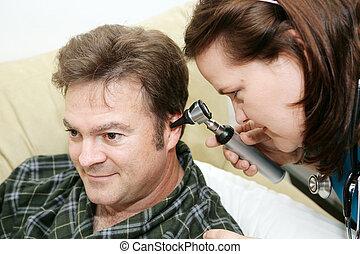 otoscope, lar, -, saúde