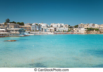 Otranto town in Puglia Italy - Otranto town with a beautiful...