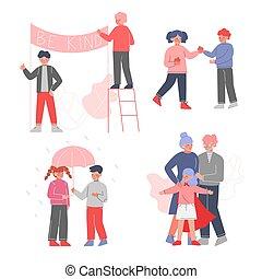 otro, ilustración, concepto, su, niños, vector, niños, ...