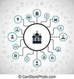 otro, vector, pater, fe, icons., synonyms, cardinal, ...