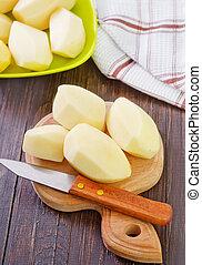 otrzyjcie skórę kartofel