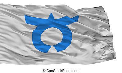 Otsuki City Flag, Japan, Yamanashi Prefecture, Isolated On ...