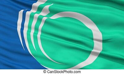 Ottawa City Close Up Waving Flag