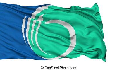 Ottawa City Isolated Waving Flag