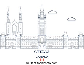 Ottawa City Skyline, Canada - Ottawa Linear City Skyline,...