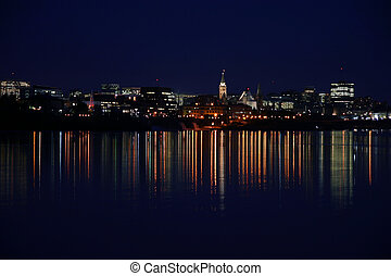 View of Ottawa, Ontario, Canada from gatineau, Quebec.