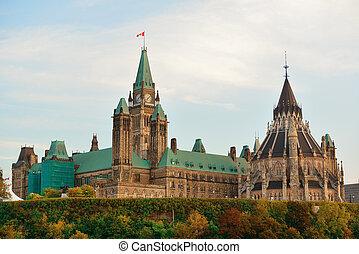 ottawa, colina del parlamento, edificio