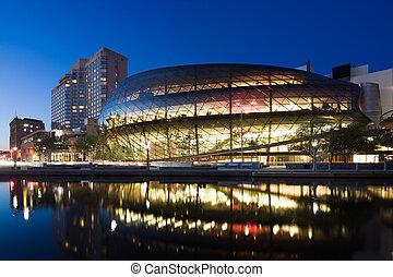Ottawa Convention Centre at twilight