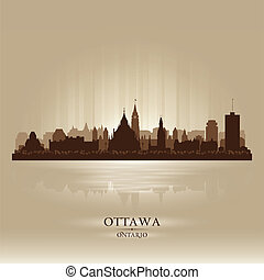 Ottawa Ontario skyline city silhouette. Vector illustration