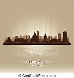 Ottawa Ontario skyline city silhouette. Vector illustration