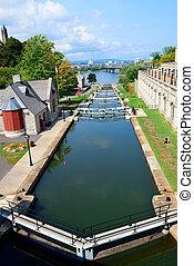 Rideau Canal and Ottawa city view