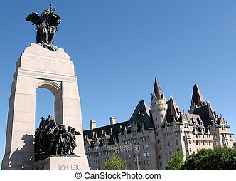 Ottawa War Memorial and Chateau Laurier 2008 - National war...