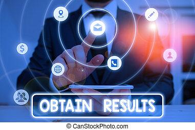 ottenere, o, concettuale, esposizione, match., affari, scopo, foto, scrittura, vittoria, mano, showcasing, vincere, incontrare, results., sport