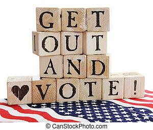 ottenere, vote!, fuori