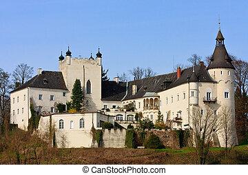 Ottensheim Castle on the danube river, Upper Austria