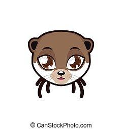 Otter portrait illustration