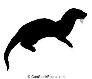 Otter silhouette