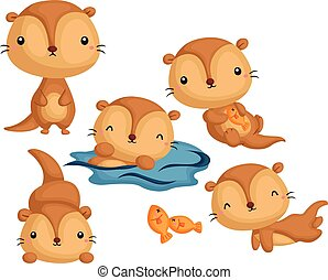 Otter Vector Set
