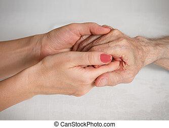 otthon, öregedő törődik