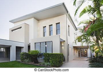 otthon, ausztrál, modern
